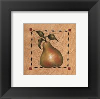 Framed Stenciled Pear I