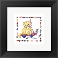 Cat Pull Toy Framed Print
