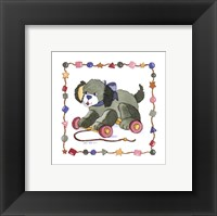 Dog Pull Toy Framed Print