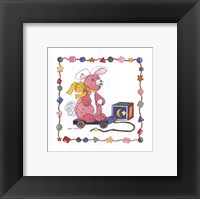 Bunny Pull Toy Framed Print