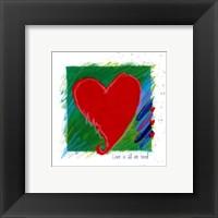 Framed Love - heart