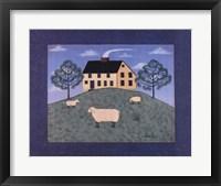 Framed Sheep on the Hillside