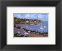 Framed Harborside Reflections