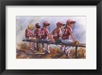 Girls to Bat Framed Print