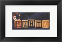 Santa Blocks Framed Print