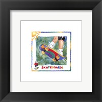 Skateboard Framed Print