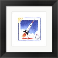 Moon Rocket Framed Print