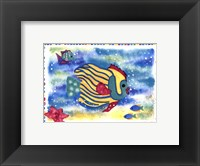 Kissing Fish I Framed Print