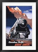 Framed Canadian Pacific Train 1930