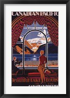 Framed Canadian Pacific-Lake Louise window