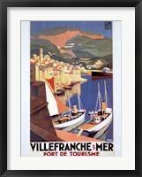 Framed Villefranche Sur Mer