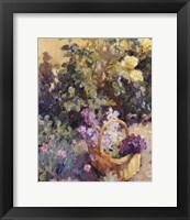Framed Basket with Flowers