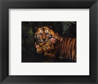 Framed Imaginary Safari Tiger