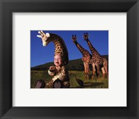 Imaginary Safari Giraff Framed Print