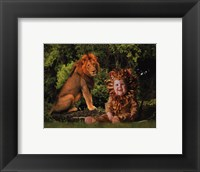 Framed Imaginary Safari Lion