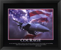 Framed Patriotic-Courage