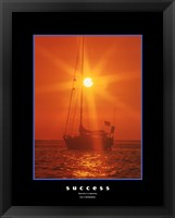 Framed Success - orange sunset