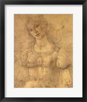Framed Drawing of a Woman