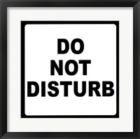 Framed Sign - Do Not Disturb