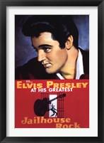 Framed Jailhouse Rock Elvis Presley at his Greatest