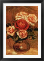 Framed Roses In A Vase