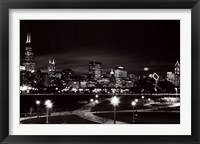Framed Chicago at Night