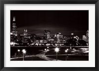 Framed Chicago at Night