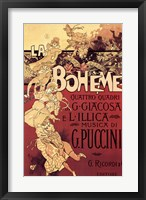Framed Puccini-La Boheme