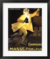 Framed Champagne Masse