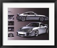 Framed Porsche 911 Gt2