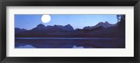 Framed Moon and Lake