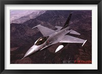 Framed Airplane F-16 Falcon