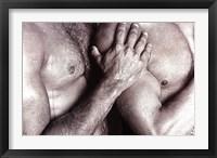 Framed Men Embracing