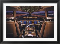 Framed Airplane - Boeing 777-200 Flight Deck