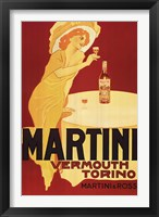 Framed Martini Rossi - Torino