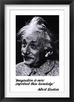 Einstein - Imagination Framed Print