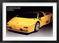 Framed Lamborghini Diablo