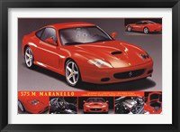 Framed Ferrari 575