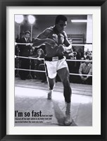 Framed Mohammed Ali Training