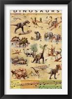 Framed Dinosaurs Timeline