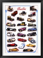 Framed Classic Cars