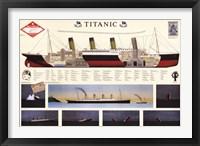 Framed Titanic - map