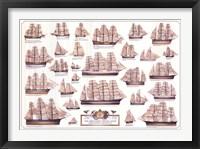 Framed Merchant Sailing Ships