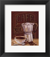 Cafe Mundo I Framed Print
