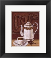 Cafe Mundo II Framed Print