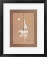 White Sailboat Framed Print