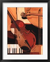 Abstract Violin Framed Print