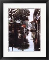 Framed Sidewalk in Rain