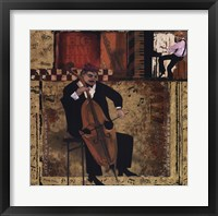 Jazz Cello Framed Print
