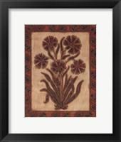 Global Flowers I Framed Print